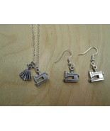 Tropicalia Handcrafted Set Necklace Earrings Charms Sewing Machine Sundr... - $1.05+