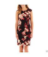 R&K Originals Sleeveless Floral Print Sheath Scuba Dress Size 4 New Msrp... - $21.99
