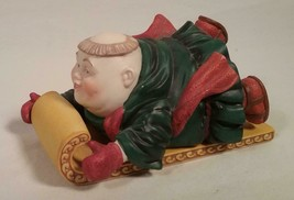 DEPT 56 MERRY MAKER MONK THADDEUS THE TOBOGGANIST CHRISTMAS FIGURINE - $29.69