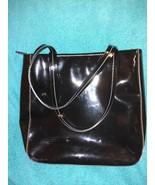 Fossil black patent leather shiny purse shoulder bag handbag - $31.00