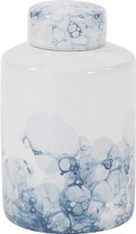 Tea Jar Vase Howard Elliott Cylindrical Base Large White - $189.00