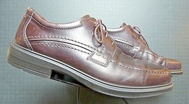 Men's ECCO Brown Oiled Leather Oxford Sz 44/11 NICE! - $29.32