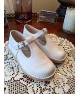 Marquitos Chiquitin White Leather T-Strap Shoes Euro 24/US 8 Madrid 1989... - $22.00