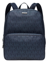 NEW MEN'S MICHAEL KORS JET SET LARGE SIGNATURE BALTIC BLUE PVC BACKPACK BAG - $160.00