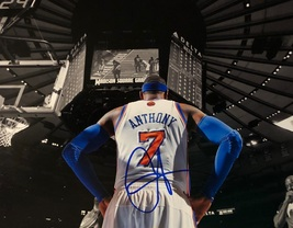 CARMELO ANTHONY AUTOGRAPHED HAND SIGNED NEW YORK KNICKS 11x14 PHOTO MSG ... - £102.17 GBP