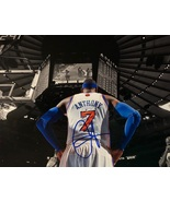 CARMELO ANTHONY AUTOGRAPHED HAND SIGNED NEW YORK KNICKS 11x14 PHOTO MSG ... - £100.70 GBP