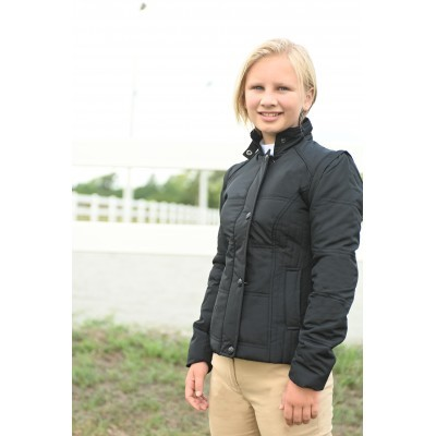 Kaki puffer jacket black