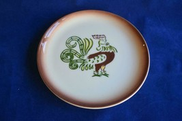 """Chanticleer by Brock Dish Bread Plate Rooster California Pottery 6.75"""" - $9.65"""