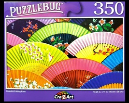 350 Piece Jigsaw Puzzle, Puzzlebug 18 in x 11 in, Beautiful Folding Fans - $4.99