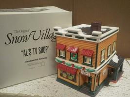 Department 56- RETIRED- 54232 Al's Tv SHOP- Excellent CONDITION-BOX Wear -D10 - $24.45