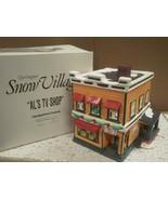 DEPARTMENT 56- RETIRED- 54232 AL'S TV SHOP- EXCELLENT CONDITION-BOX WEAR... - $24.45