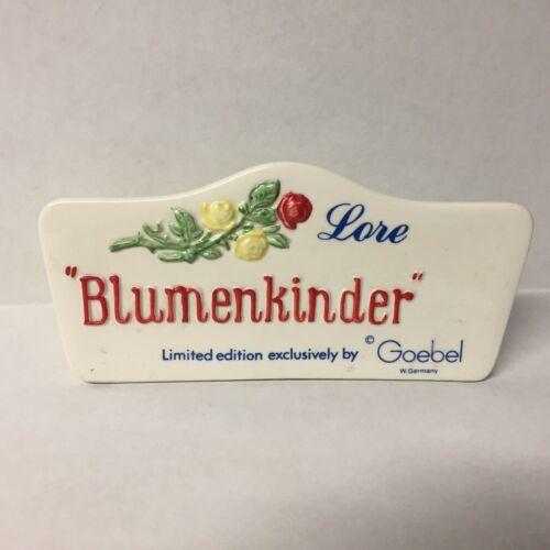 Goebel Lore Blumenkinder Ceramic Plaque W Germany 1966 Roses 238 - $23.36