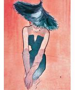 """11x14""""Poster on Canvas.Interior design Art.Retro fashion.Exotic model ha... - $28.05"""