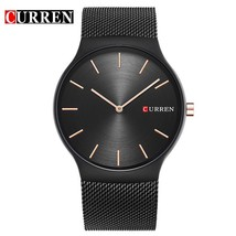 Curren Men Watch Black Rose Gold Pointer Relogio Masculino Luxury Analog Sports - $31.66