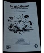 On Broadway, 1-4, Mark A. Brymer, 1990, SHEET MUSIC BOOK - $6.92