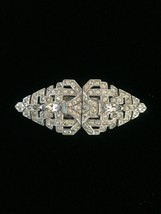 Vintage 30s Art Deco rhinestone duette (brooch and fur clips) image 1