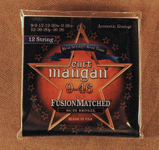 Curt Mangan USA Made Electric Guitar Strings 80/20 Bronze for 12-String ... - $14.20