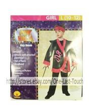 RUBIE'S* 3pc Costume PINK NINJA For Girl HALLOWEEN Large 10-12 PANTS+SHI... - $5.41