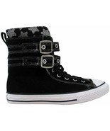 Converse Chuck Taylor Glendale Xtra High Black/Mouse  650060C Pre-School... - $60.00