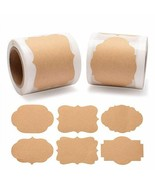 DIY Blank Kraft Paper Labels Stickers Use For Wedding Birthday Gift Boxe... - $7.90+