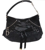 Christian Dior Saddle Black Nylon/Leather Shoulder Bag - $978.04