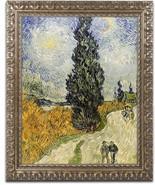 Road with Cypresses Canvas Art, Vincent van Gogh, 11 X 14 Inch Gold Orna... - $39.80