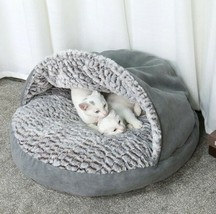 High Quality DOG or CAT Warm BED Grey Soft House - $41.71