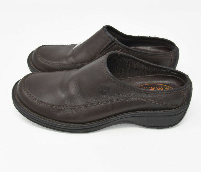 Timberland Smart System Women's Sz 5.5M Brown Leather Slip On Loafers 82337 0726 - $24.95