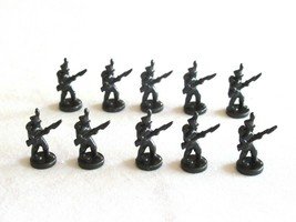 10x Risk 40th Anniversary Edition Board Game Metal Soldier Infantry Black Army - $16.99