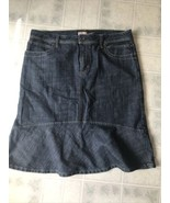 Canyon River Blues Womens Medium Dark Wash Denim Full Modest A Line Jean Skirt - $31.50