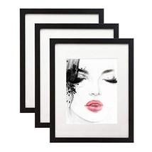 Elabo 11x14 Black Picture Frame 3 Pack - High Definition Plexiglass Disp... - $20.53