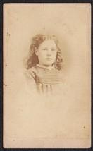 """Helen """"Nellie"""" Rhodes CDV Carte de Visite Photo of Pretty Girl - Boston, MA - $17.50"""
