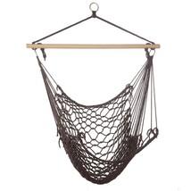 *15979B  Espresso Woven Rope Hammock Chair - $26.55