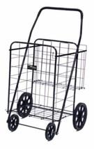 Easy Wheels Jumbo Plus Shopping Cart Black Stee... - $52.35