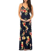Maternity's Dress V Neck Floral Print Sleeveless Fashion Slip Dress image 2