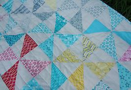 """New Handmade Pinwheel Patchwork 38""""x38"""" 100%cotton quilt shop fabric OOAK - $65.00"""
