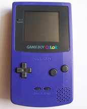 Game Boy Color Purple - Grape  Handheld System  NEW SCREEN COVER  NEW S... - $37.67
