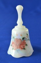 Fenton Hearts & Flowers Petite Bell  # 9462FH Signed D Anderson - $19.80