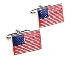 drapeau américain USA BOUTONS DE MANCHETTE DE MARQUE PAR FREDERICK THOMA... - $24.38