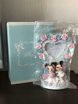 Disney Store Japan Mickey & Minnie Mouse Wedding Photo Frame Flower Bridal Stand - $62.37