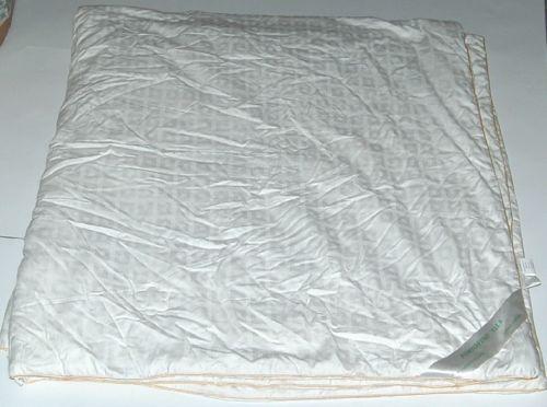 Portofino Silk Duvet Insert Color White Gold Piping Size Queen