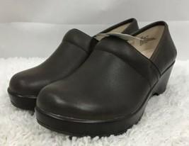 JBU Jambu Cordoba Taupe Brown Leather Nursing Comfort Clogs Shoes Sz 7 NWT! - $40.19