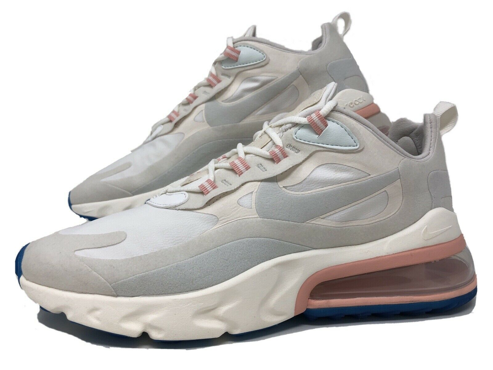 Primary image for Womens Nike Air Max 270 React White/Ghost Aqua Size 9.5 (Worn 2X) AT6174-100