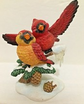 """Bird Figurine Hamilton Collection 2000 """" Let's Fall In Love""""  Cardinals ... - $14.84"""