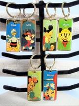 Mickey Minnie Donald Keychain Walt Disney World Enamel Metal Personalize... - $7.99