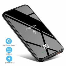 Wireless Portable Charger Hokonui Wireless Power Bank 10000 mAh with LCD... - $45.18