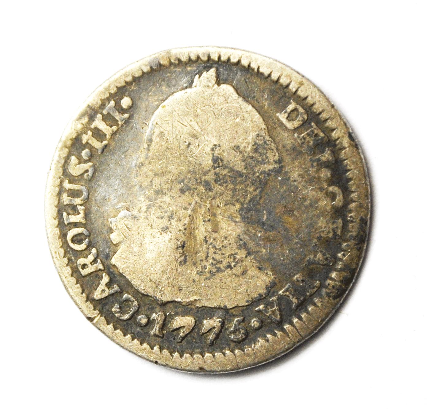 1775 PTS JR Bolivia Silver Real Rare KM# 52