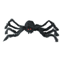 "Northlight 24"" Black Fuzzy Spooky Spider Red Eyes Halloween Table Decor - $10.63"