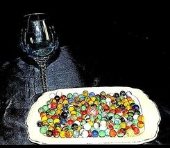 Group of 170 Marbles in Wine Glass with 1 Shooter AA18 - 1175M Vintage image 6