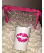 Ladies Clear Travel Pink Lipstick Makeup Beauty White Coffee/Tea Mug Gif... - $14.84